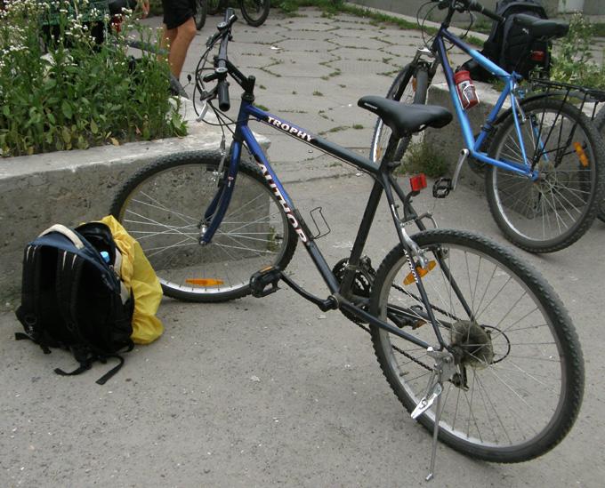 Мой велосипед на стоянке